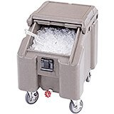 Granite Gray, Ice Bin / Caddy, 100 Lb. Capacity, 4 Swivel Casters