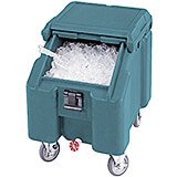 Slate Blue, Ice Bin / Caddy, 100 Lb. Capacity, 4 Swivel Casters