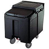 Black, Ice Bin / Caddy, 125 Lb. Capacity, 2 Swivel Casters