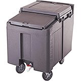 Granite Gray, Ice Bin / Caddy, 125 Lb. Capacity, 2 Swivel Casters