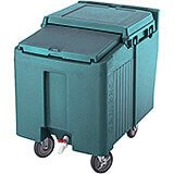 Granite Green, Ice Bin / Caddy, 125 Lb. Capacity, 2 Swivel Casters