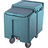 Slate Blue, Ice Bin / Caddy, 175 Lb. Capacity, 2 Swivel Casters