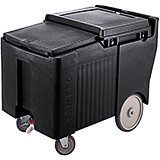 "Black, Ice Bin / Caddy, 125 Lb. Capacity, 8"" Easy Wheels"