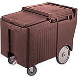 "Dark Brown, Ice Bin / Caddy, 125 Lb. Capacity, 8"" Easy Wheels"