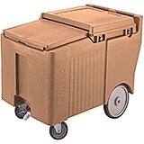 "Coffee Beige, Ice Bin / Caddy, 125 Lb. Capacity, 8"" Easy Wheels"