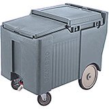 "Granite Gray, Ice Bin / Caddy, 125 Lb. Capacity, 8"" Easy Wheels"