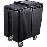 Black, Tall Ice Bin / Caddy, 175 Lb. Capacity, 2 Swivel Casters