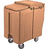 Coffee Beige, Tall Ice Bin / Caddy, 125 Lb. Capacity, 2 Swivel Casters