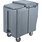 Granite Gray, Tall Ice Bin / Caddy, 125 Lb. Capacity, 2 Swivel Casters