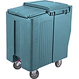 Slate Blue, Tall Ice Bin / Caddy, 125 Lb. Capacity, 2 Swivel Casters