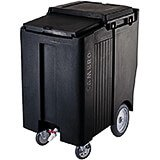 "Black, Tall Ice Bin / Caddy, 200 Lb. Capacity, 10"" Easy Wheels"