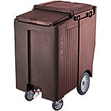 "Dark Brown, Tall Ice Bin / Caddy, 175 Lb. Capacity, 10"" Easy Wheels"