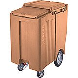 "Coffee Beige, Tall Ice Bin / Caddy, 175 Lb. Capacity, 10"" Easy Wheels"