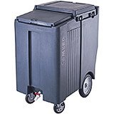 "Granite Gray, Tall Ice Bin / Caddy, 175 Lb. Capacity, 10"" Easy Wheels"