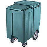 "Granite Green, Tall Ice Bin / Caddy, 175 Lb. Capacity, 10"" Easy Wheels"