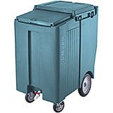 "Slate Blue, Tall Ice Bin / Caddy, 175 Lb. Capacity, 10"" Easy Wheels"