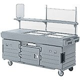 Granite Gray And Black, Mobile Food Kiosk, 4 Food Pan Wells
