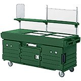 Green, Mobile Food Kiosk, 4 Food Pan Wells