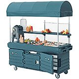 Granite Green, Mobile Food Kiosk with Canopy, 6 Food Pan Wells