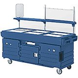 Navy Blue, Mobile Food Kiosk, 6 Food Pan Wells