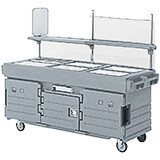 Granite Gray And Black, Mobile Food Kiosk, 6 Food Pan Wells