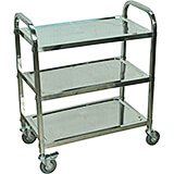 Stainless Steel, Three Shelf Utility Cart