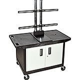 "27"" Tall Mobile Plasma/LCD Cart W/ Storage"