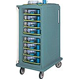 """Granite Green, Tall Meal Delivery Cart, 14""""x18"""" Trays, 1 Door"""