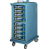 "Tall Meal Delivery Carts, 14""x18"" Trays, 1 Door"