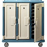 "Tall Meal Delivery Carts, 14""x18"" Trays, 3 Doors"