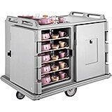 "Gray, Room Service / Meal Delivery Cart, 14"" x 18"" Trays"