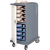 """Granite Gray, Tall Meal Delivery Cart, 15""""x20"""" Trays, 1 Door"""