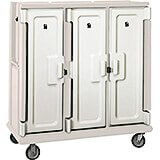 "Gray, Tall Meal Delivery Cart, 15""x20"" Trays, 3 Doors"