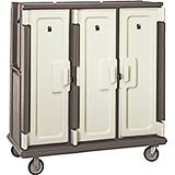 "Granite Sand, Tall Meal Delivery Cart, 15""x20"" Trays, 3 Doors"