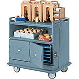 Slate Blue, Beverage Cart, Recessed Top