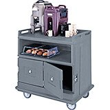 Granite Gray, Beverage Cart, Flat Top