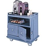Slate Blue, Beverage Cart, Flat Top
