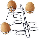 Chromed Wire Boiled Egg Holder, 6 Eggs