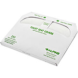 White, Biodegradable Virgin Pulp Half-Fold Toilet Seat Cover, (20 Packs Of 250 Sheets Each), 5000/PK