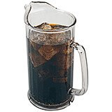 Clear, 60 Oz. Polycarbonate Pitcher, Contemporary, 6/PK