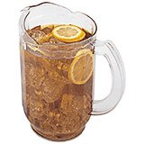 Clear, 60 Oz. Laguna Pitcher, Hammered Texture, 6/PK