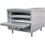 Stainless Steel Countertop Pizza Oven W/ 2 Removable Ceramic Hearth Baking Shelves, 2850W