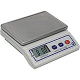 White, Stainless Steel Portion Scale, Digital, 7 Lb.