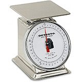 """Stainless Steel, 6"""" Rotating Dial, Analog Scale, 5 Lb."""