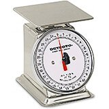 "Stainless Steel, 6"" Rotating Dial, Analog Scale, 25 Lb."