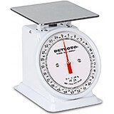 "White, Enamel 6"" Dial Fixed Analog Scale, 25 Lb."