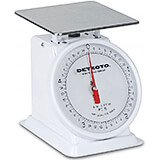 "White, Enamel 6"" Dial Fixed Analog Scale, 5 Lb."