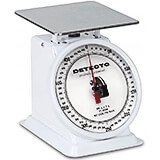 "White, Enamel 6"" Rotating Dial, Analog Scale, 500 Gram"