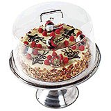 "Clear, 12"" Round Cake Dome with Handle"