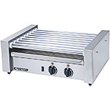 Stainless Steel 24 Hotdogs Hot Dog Roller, 9 Roller Hot Dog Cooker